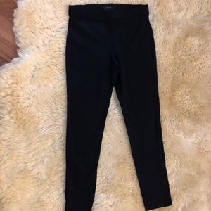 Theory stretchy black leggings